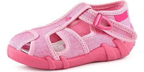 Ladeheid Zapatillas Pantuflas Unisex Niños Niñas LARB003 (Rosa/Brocado, 25 EU)