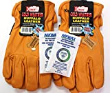 Kinco - Buffalo Leather, Cold Weather, Waterproof Winter Work Gloves for Men - 2 Pack with Nikwax Waterproofing and Thermal Lining (Large)