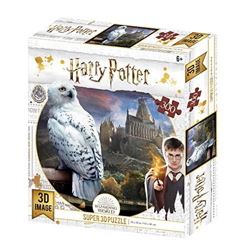 Harry Potter Puzzle 3D Multicolore de Hedwige - 300 pièces