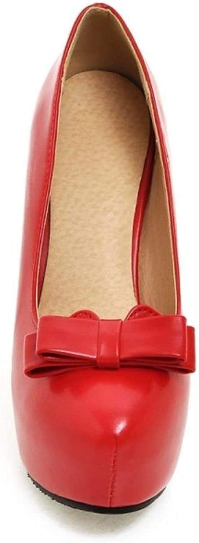 Garyline Women Fashion Platform Stiletto Pumps High Heels shoes Slip on with Bow
