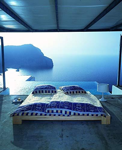 Bassetti Oplontis V9 9236937 Set Copripiumino singolo e federa, 135 x 200 x 0,5 cm, colore: azzurro satinato