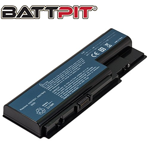 BattPit Battery for Acer Aspire 5315 5715Z 5720 5739G 5920G 5935G 5710 6920 6930 6930G 6935G 7530G 7535G 7720 7730 7740 7735Z 7735Z-4357 7736 7736G 7736Z 7740 7740-5142 - [6-Cell/4400mAh/49Wh]