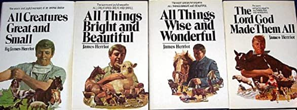 James Herriot's 4 Vol. Set (All Creatures Great and Small, All Things Bright and Beautiful, All Things Wise and Wonderful, The Lord God Made Them All)