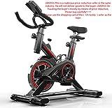 Indoor Cycling Bike, Silent Belt Drive Cycle Bike with Adjustable Handlebars & Seat