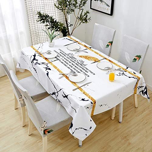 CBXD Frische Baumwolle und leinen wasserdicht und ölbeständig tischdecke stuhlhussen Kombination couchtisch esstisch Tuch Feder Herbst stuhlhussen (Zwei Packungen)