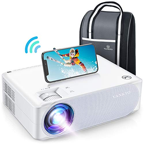 "VANKYO Performance V630W Native 1080P Projector, Full HD WiFi Projector, Supports 4K & 300"" Display, 5G Synchronize Smartphone Screen & ±50° Keystone Correction, Compatible w/ iPhone, TV Stick, PS5"