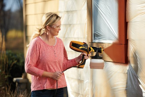 Wagner Spraytech 0529010 FLEXiO 590 Handheld HVLP Paint Sprayer, Sprays Unthinned Latex, Includes Two, iSpray Detail Finish Nozzle, Complete Adjustability for All Needs