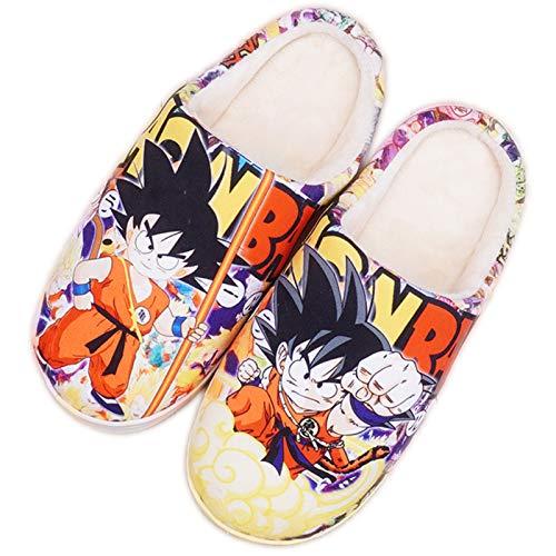 Hausschuhe Herren Damen Dragon Ball Kakarotto Son Goku Memory Foam Pantoffeln Winter Mädchen Jungen Home Anime rutschfeste Plüsch Slippers,41/43 EU