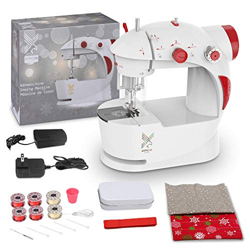 KPCB Sewing Machine for Beginners with DIY Bag Material (Red)