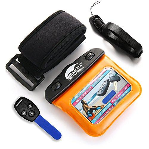 Swimcell, custodia impermeabile per iPhone 6, 7Plus, Samsung, iPad, tablet, Kindle, lettore MP3, fotocamera, portachiavi, soldi, passaporto testato IPX8. Resistente fino a 10m sott'acqua