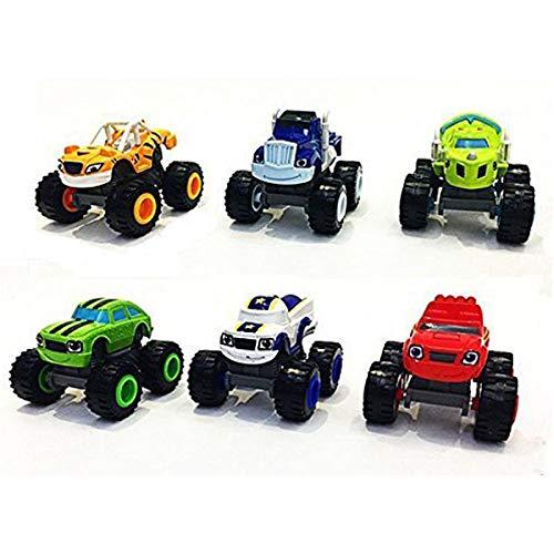 Monster Machines 6 Piezas Set Camión Vehículos Racer Cars Toy