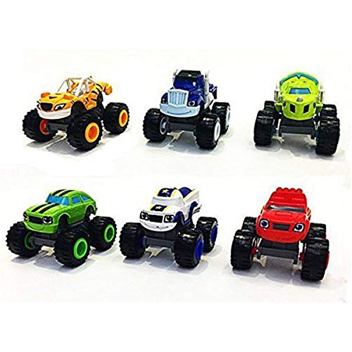 OYJD Monster Machines 6 Piezas Set Camión Vehículos Racer