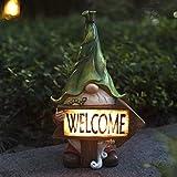 CNZXCO Gartenzwerg, Gartenzwerge wetterfest, gartenzwerg lustig, gartenfiguren für außen, Strand sexy Zwerg, Surfer Dude GNOME - Gartenzwerge im Freien - Lustige Rasengnom-Statuen, vollfarbig