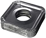 """Aluminum Foil Square Gas Stove Burner Covers – Pack of 40 – Disposable Bib Liners for Kitchen Gas Range Top - Keep Your Gas Range Clean with DCS Deals Drip Pans - 8.5 x 8.5 x .5"""" Inch"""