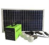 Mobiles Solar-Beleuchtungssystem für Ihr Zuhause, Photovoltaikanlagen Outdoor Solar LED Lampen, Solar Home System Kit mit Solarpanel