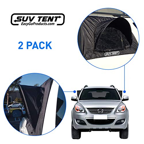 EasyGoProducts SUV Tent–SUV Car Camping Tent – Tent – Works as Vent, Bug Guard and Sun Screen Canopy - Great Car Camping Accessory (2 Packs) (EGP-Auto-003-D)