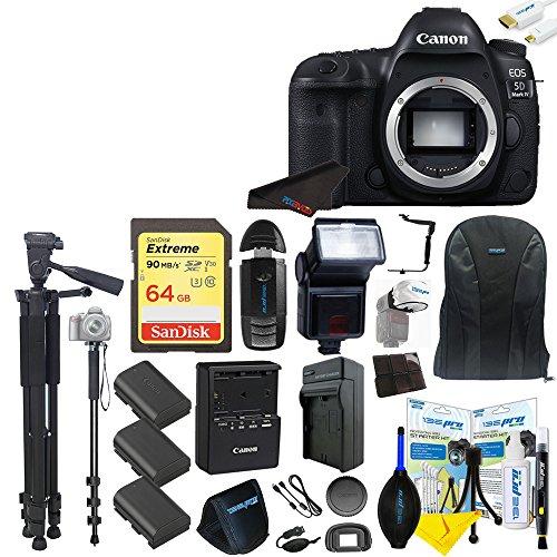 Best Deals! Canon EOS 5D Mark IV DSLR Camera (Body Only) + Pixi- Advanced Accessory Bundle