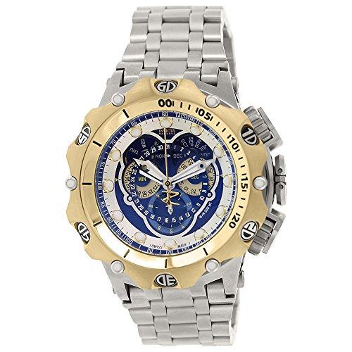Invicta 16808 62mm pulsera de acero plata y caso llama fusión reloj de los hombres