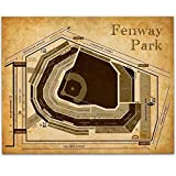 Fenway Park of Boston Baseball Seating Chart - 11x14...