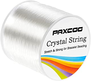 Paxcoo 1.5mm Bracelet String Elastic Stretch Bead Cord for Jewelry Making and Bracelet Making