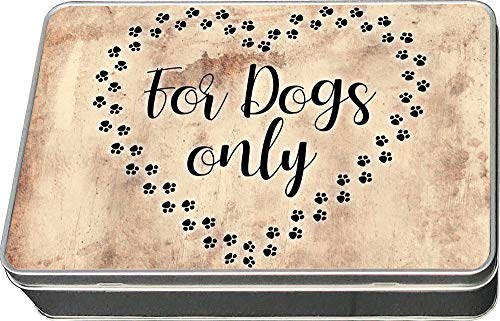 Cadouri Leckerli-Dose » for Dogs only « Blechdose┊Leckerchen┊Futterdose┊Aufbewahrungsdose - 198 x 128 mm