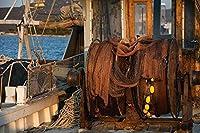 新しいJSCTWCLジグソーパズル大人のための1000個-古いボートの漁網スプール-エンターテインメント木製パズルおもちゃ