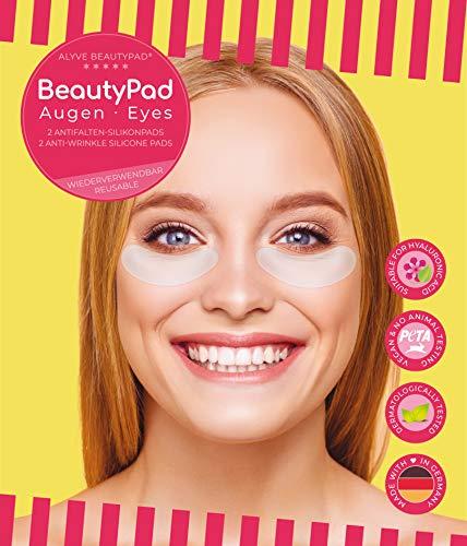 Alyve BeautyPad® Augen Anti Falten Silikon Pads | für Gesicht, Augen, Krähenfüße | wirken schnell, hautfreundlich, wieder verwendbar | 2 Stk.