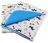 Washable Dog Pee Pads, 2 Pack Fast Absorbing Reusable Training Puppy Pads, 28