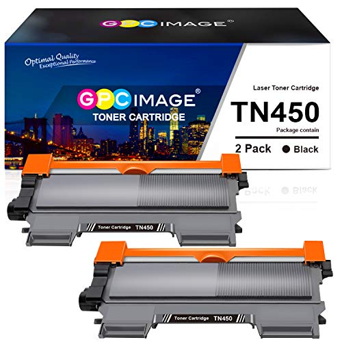 GPC Image Compatible Toner Cartridge Replacement for Brother TN450 TN-450 TN420 to use with HL-2270DW HL-2280DW HL-2240 MFC-7360N DCP-7065DN MFC7860DW Intellifax 2840 2940 Printer (2-Black)