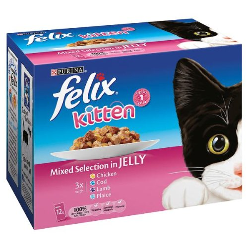 Felix Kitten Mixed Selection in Jelly Pouches - 12 x 100g