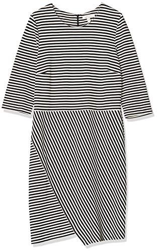 ESPRIT Damen Kleid 027EE1E020, Mini, Mehrfarbig (Black 001), XXL