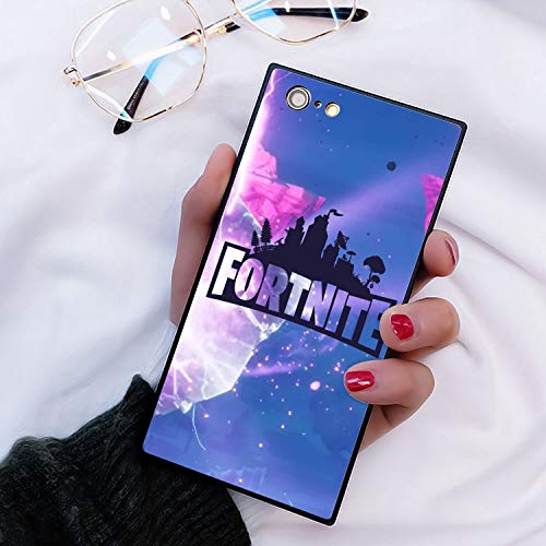 Phone Case for Apple iPhone 6s Plus iPhone 6 Plus 5.5inch Cube Fortnite Game Battle Royale Kevin Butterfly Explosion
