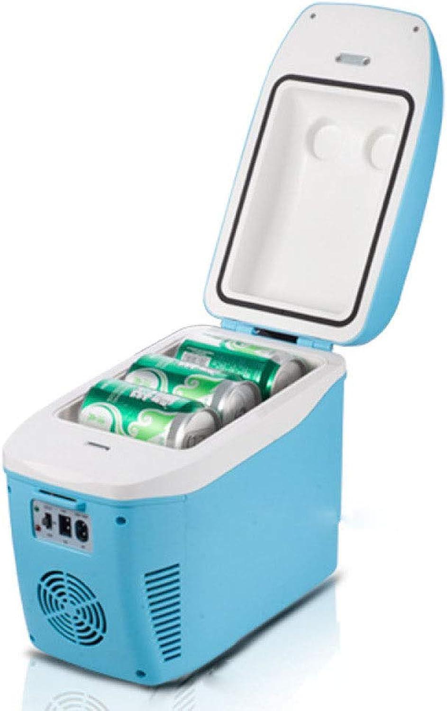 el mejor servicio post-venta ZBYY Refrigerador del Coche Refrigerador Fresco Eléctrico De De De La Caja De Motor Refrigerador Que Acampa De La Casa De Motor 7.5L 12V   220V Conveniente para Las Oficinas Que Acampan A Casa,azul  te hará satisfecho