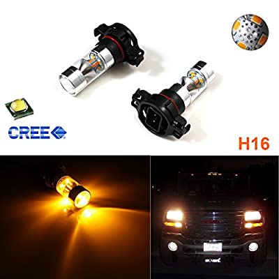 Xotic Tech 2x HID 100W CREE 5202 H16 LED Daytime Running DRL Fog Lights Bulbs Lamps For Chevorlet GMC Dodge Chrysler Jeep