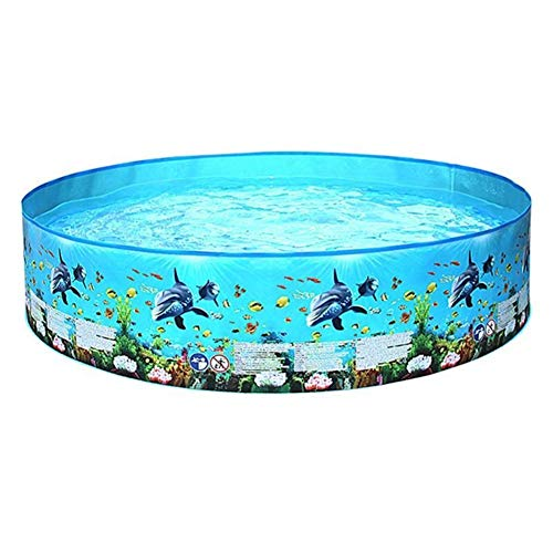 DLQX Children's Inflatable Swimming Pool, Large Family Summer Outdoor Swimming Pool, Children's Inflatable Paddling Pool, The Best Choice for Swimming and Playing in Summer (15225CM)(Color:A)