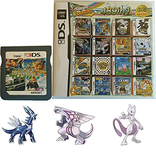 489 in 1 Game Cartridge, DS Game Pack Card Compilations, Super Combo Multicart for DS, NDSL, NDSi, NDSi LL/XL, 3DS, 3DSLL/XL, New 3DS, New 3DS LL/XL, 2DS, New 2DS LL/XL