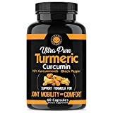 Angry Supplements Ultra Pure Turmeric Curcumin with BioPerine, Black Pepper...