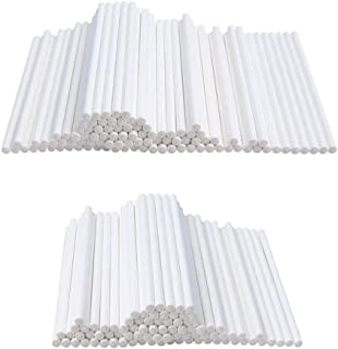 400PCS 4 Inch White Lollipop Sticks,Cake Pop Stick,Paper Sticks for Chocolate,Homemade Candy,Cookies,Dessert