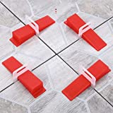 ARBO Tile Leveling System KIT Plastic 100 Sets | Tile Leveling System for Wall and Floor Tiles Spacer Tile Levelling Tools, 100 Wedge and 100 Clips