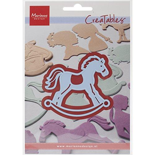 Marianne Design Creatables Schaukelpferd - Stanzschablone und Prägeschablone für die Kartengestaltung und Scrapbooking, Metal, blau, 16.5 x 11.4 x 0.2 cm