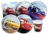 Ciao- Kit Mesa Fiesta Party Disney Cars Legend of The Track para 8 (44 Piezas), Multicolor, 24...