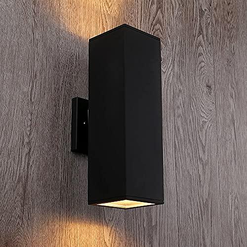 Cerdeco 37858TZ Brandon Aluminum Outdoor Wall Light, Exterior Up Down Light Fixtures Matte Black [UL Listed]