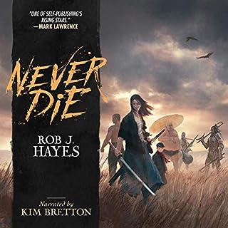 Never Die audiobook cover art