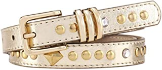 Women's Fashion Belt Luxurious Gold Rivet Crystal Pin Buckle Lady Belt for Jeans Pants for Tights Leggings Jeans Uniforms