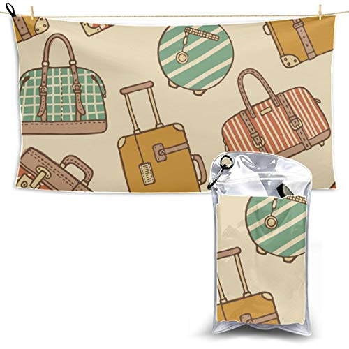 engree Fashion Colorful Travel Luggage Bag Beach Towel Teen Surf Beach Towel Travel Towel Warmer Boy Towels Beach 27.5'' X 51''(70 X 130cm) Best for Gym Travel Camp Yoga Fitnes