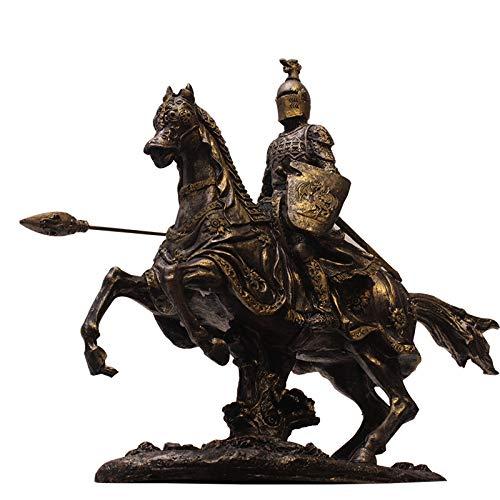 LISAQ Samurai Rüstung Modell Re-Knight War Horse Armor Warrior Kreative Bar Dekoration