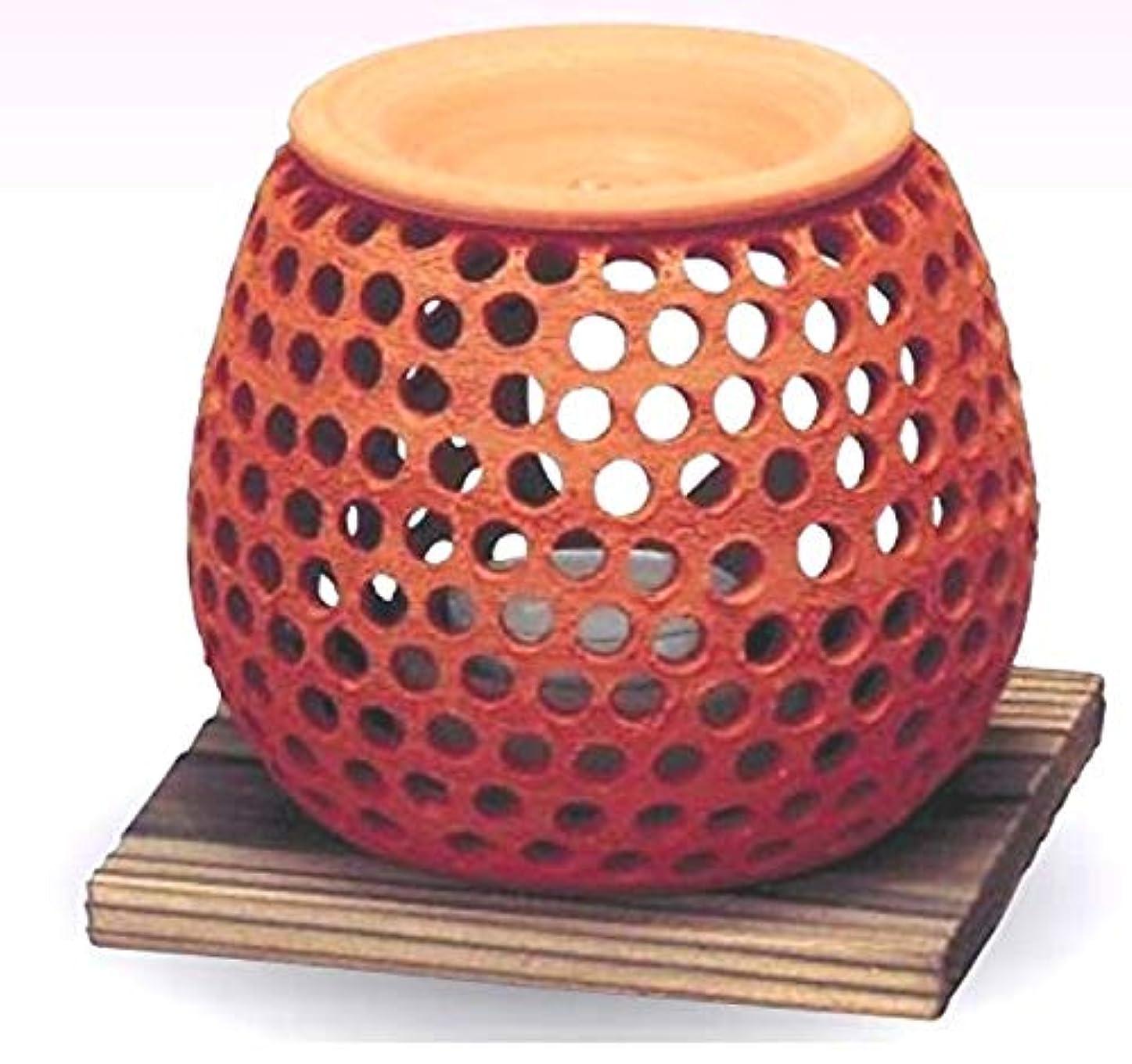 スカリーバトル自動的に常滑焼 石龍作 茶香炉(アロマポット)径10×高さ10cm