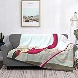 Manta de forro polar ultra suave para decoración del hogar, manta de franela antipilling para sofá, cama, campamento de 60 x 50 pulgadas, flamenco americano