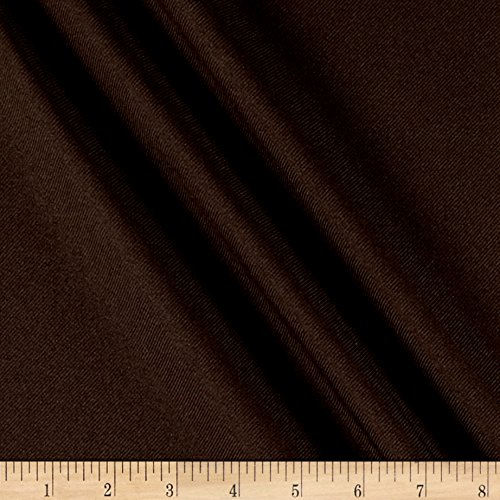 Gabardine Suiting Solid Brown, Fabric by the Yard