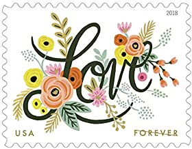 Love Flourishes 4 Sheets of 20 USPS First Class Forever Postage Stamps Wedding Love Valentine 80 Stamps